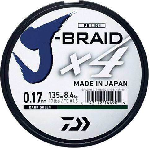 Hilo Trenzado Daiwa X4 0.17mm 135m