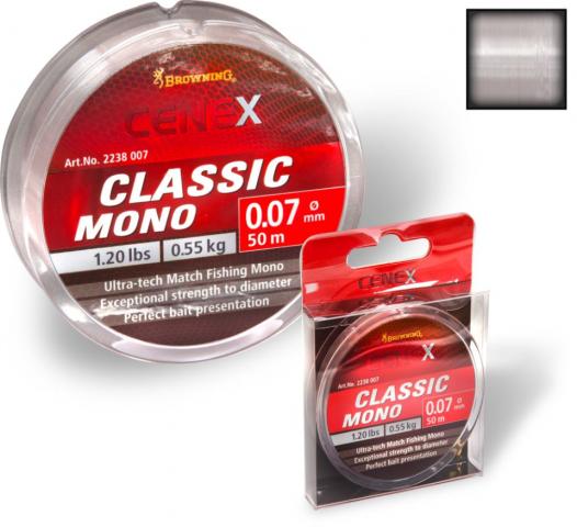 Hilo Browning Cenex Classic Mono 0.16mm 100m