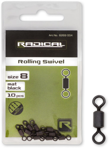 Emerillon Rolling Radical nº8 Negro Mate