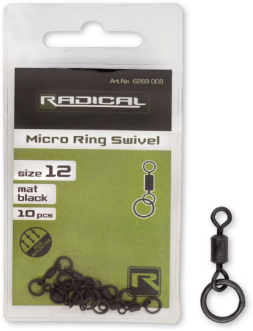Emerillon Rolling con Anilla Radical nº12 Negro