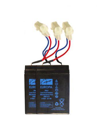 BATERIAS PACK BOAT PLOMO 6V/4,5A X 2