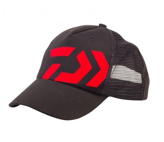 Gorra Trucker Negra Logo Rojo