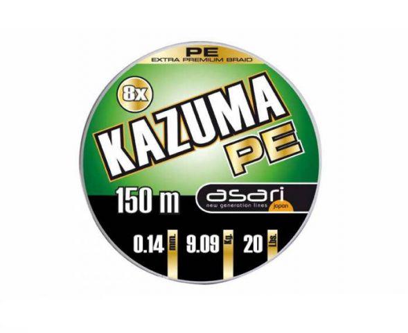 Hilo Trenzado Asari Kazuma PE 8X 150m 0.18mm